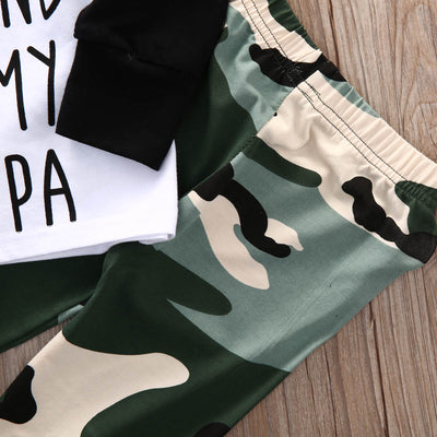 Newborn baby suit children clothing Camouflage Baby Boys Girl Tops T-shirt +Long Pants 2Pcs Outfits Set Clothes Suit