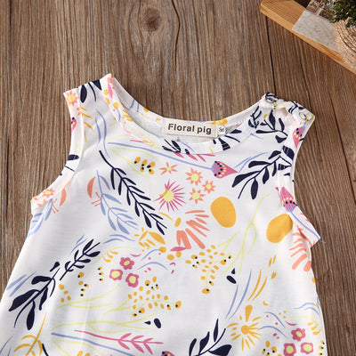 Fashion Newborn Kids Toddler Baby Girl Clothes Sleeveless Romper Floral Jumpsuit Playsuit Sunsuit