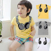 Boys Clothing Headphone Design T Shirts Baby Boys Girls Short Sleeve Tops Boy Cartoon T-Shirts Child Clothing