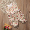 born Baby Girl Floral Romper Clothes Sleeveless Tassel Baby Rompers Infant Toddler Kids Jumpsuit Sun suit Outfit
