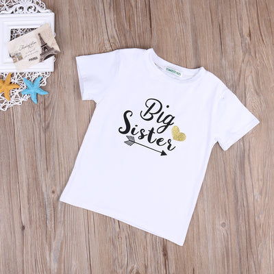 Summer Cotton Toddler Infant Baby Kids Clothes brother Romper Jumpsuit + Sister T-shirt Tee Top