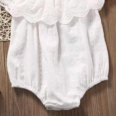 Summer Newborn Toddler Baby Girl White Lace Romper Jumpsuit Infant Clothes Outfit Sunsuit