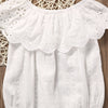 Summer born Toddler Baby Girl White Lace Romper Jumpsuit Infant Clothes Outfit Sunsuit