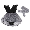 Summer Newborn 0-7Y Casual Baby Girls Kid Lace Sunsuit Tutu Romper and Lace Tutu Dress Party Pageant Dresses Headband