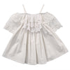Summer Kids Girls Summer Dress Off-shoulder Ruffles Lace Dresses Solid White Baby Girl Clothes Princess Costume