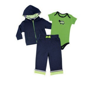 Baby Boys Clothing Set Spring Summer Children's Clothing Sets Sports and Leisure suits 0-2 year Baby Clothing Set 3 pieces
