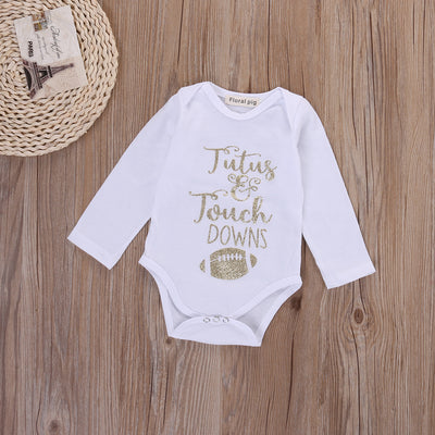Newborn Toddler Baby Boys Girls Cotton Long Sleeve rugby Romper Jumpsuit Clothes Outfits
