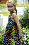 Kids Dress Girl Princess Children Birthday Dress Pineapple Print Princess Party Dress