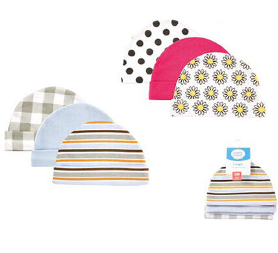 Newborn Baby Hats & Caps Lovable Friends Floral Plaid Baby Accessories for 0-3 Months
