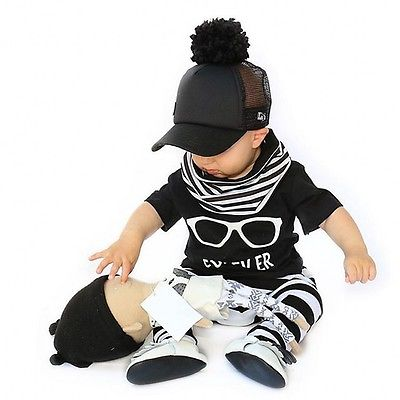 New Baby Boys Clothes T-shirt +Pants Leggings +Scarf Outfits set baby suit baby set