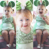Baby Girl Tulle Halter lace Belt Romper Jumpsuit Sun suit Outfits Clothes