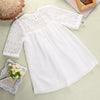 Summer Fairy Baby Girls Lace Floral Party Solid Ball Gown Dresses Lovely Lace A-line Dresses
