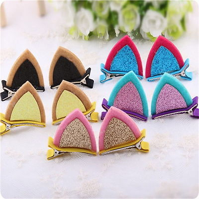 Kids Baby Girls Hairpins Children Cat Ear barrettes Hair Clips Barrette Hairpins Single hair clip