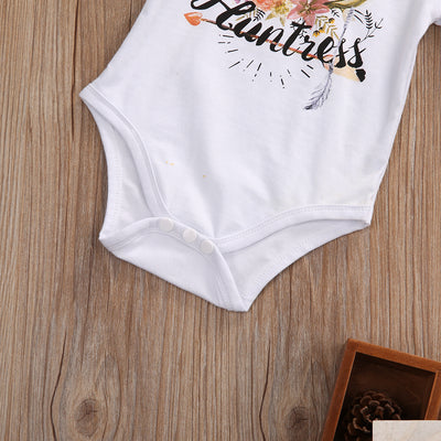 Summer Newborn Baby Girl Short Sleeve Cotton Romper Jumpsuit Playsuits Outfits Sunsuits