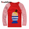 Ice-cream High Quality Fall Winter Design Kids Infant Clothing Children T-shirt Cute Baby Boy Girl Long Sleeve Cotton T shirts