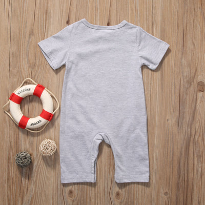 Summer Short Sleeve Bear Cotton Jumpsuit Toddler Kids Outfits Cute Newborn Baby Boy Girl Romper