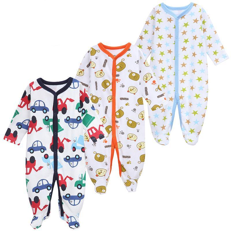5856fdd7ddcc 3 PCS LOT Baby Boy Clothes Comfortable Baby Rompers Winter Thick ...