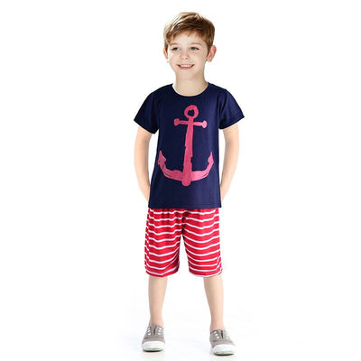 Baby Boy Clothing Sets Fashion Kids Clothing Newborn Baby Clothes Short Sleeve Children T-shirt