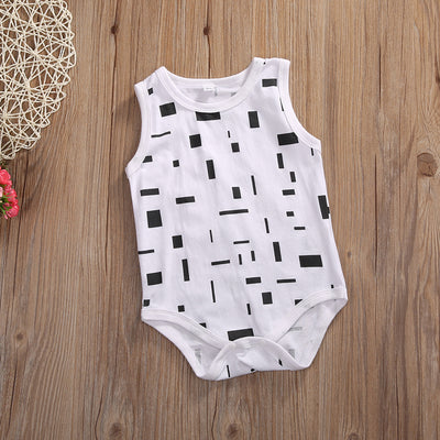 Summer Newborn Baby Romper Summer Sleeveless Cotton Clothes Outfits Toddler Kids Jumpsuit