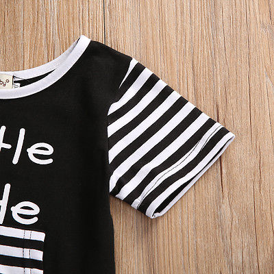 Summer Newborn Infant Kids Baby Boy Girl Striped Cotton Romper Jumpsuit Clothes Outfit