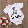 Summer born Infant Baby Boys Girls Cotton pineapple Romper Jumpsuit Clothes Outfits