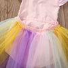 Baby Girl Kids Lace Sequins Princess Romper Dress Party Formal Wedding Tutu rainbow Colorful Dresses