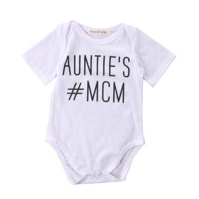 Newborn Baby boys Girls Game Bodysuits onesie Infant Babies Kids Cute Bodysuit one-pieces Outfits Kids Clothing letter printed Auntie's MCM