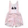 Kid Toddler Baby Girl Pink Floral Romper Backless Tassel Jumpsuit Sun suit Clothes