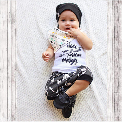Newborn Kids Baby Boys Letters arrow vest + Shorts Pants Outfit Clothes