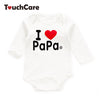 Infant Soft Cotton Baby Boys Girls Rompers born Letter Love Mama Printed O-neck Kids Jumpsuit Long Sleeve Toddler Clothes