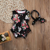 Summer Adorable Floral Baby Girls Romper Sun suit Outfit Clothes