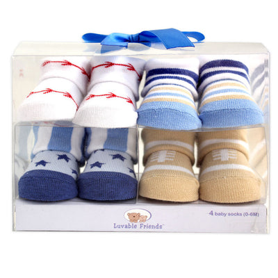 Rushed Time-limited Baby Socks 4pairs /lot Baby Boy Socks Gift Set 0-6m