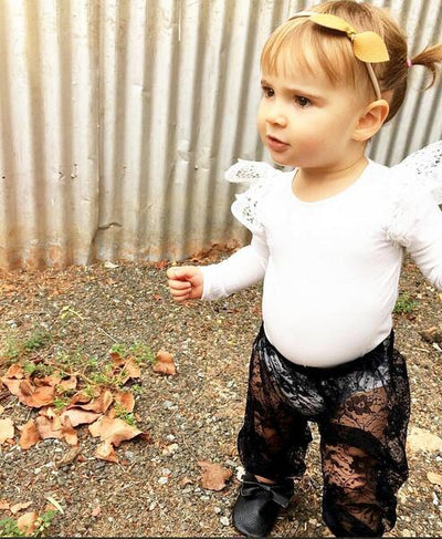 Summer New Fashion  Infant Baby Girls Lace Pants Bottoms Long Leisure Trousers