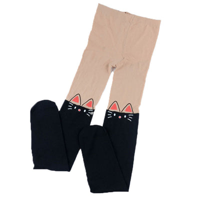 Children Kids Baby Girls Cartoon Footed Tights Long Stocking Pants Tights Cotton Cute Children Stocking Baby Pantyhose For Kid