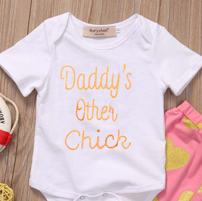Newborn Baby Boy Girl Clothes Summer Short Sleeve Love Heart Printed Baby Romper Pant Outfit Tracksuit