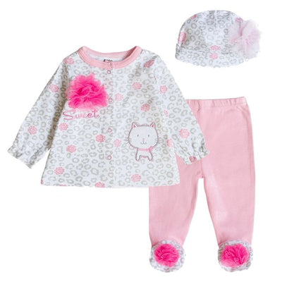 Baby's Sets Boy Girl Clothes With Baby Cap 100%Cotton Long Sleeve Newborn Clothing