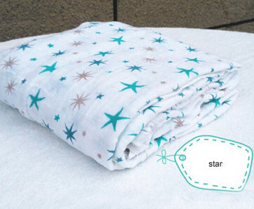 Muslin Baby Swaddling Blanket Newborn Infant 100% Cotton Swaddle Towel Random Delivery