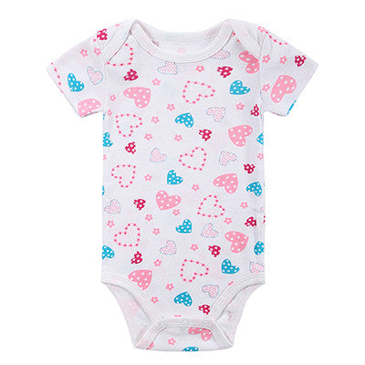 Baby Bodysuits Boys Girls Baby Clothing Cartoon Printed Infant Jumpsuits Summer Overalls Cotton Coveralls Fashion Wear