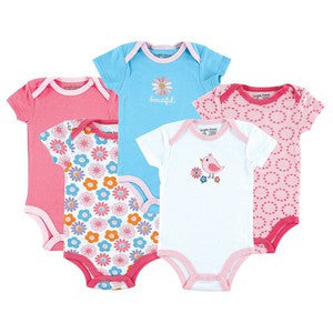 Summer 5 pcs/lot Baby Clothes Baby Romper O-Neck 100%Cotton Cute Styles Newborn Baby Boys girls Clothes Baby Overall