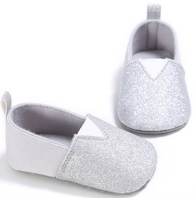 5 Color Baby First Walkers New Soft Sole 0-18M Baby Girl sequins soft Kid Pre-walker Toddler Anti skid Shoes