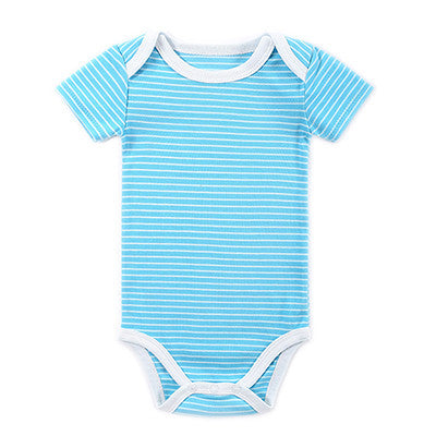 High Quality Baby Summer Girls Boys Cotton Fashion Baby Clothes Short Sleeves Baby Wear Jumpsuits Clothing Body Suits