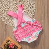 born Infant Baby Girls Clothes Summer Sleeveless Ruffles Jumpsuit Outfits Sun suit