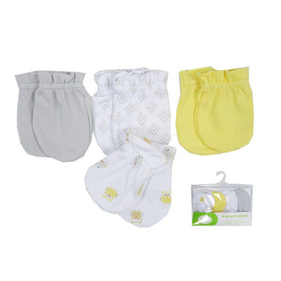 4 pcs/lot 100% Super Soft Cotton Baby Gloves Baby Mittens Gloves Newborn Safety Gloves