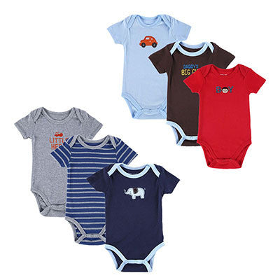 6 Pieces Newborn Baby Bodysuit  Baby Boy Layette Summer Body Baby Next New Born Baby Clothes Babies