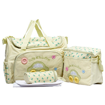 High Quality Tote Baby Shoulder Diaper Bags Durable Nappy Bags for mom 4 Colors 4 PCS/Set