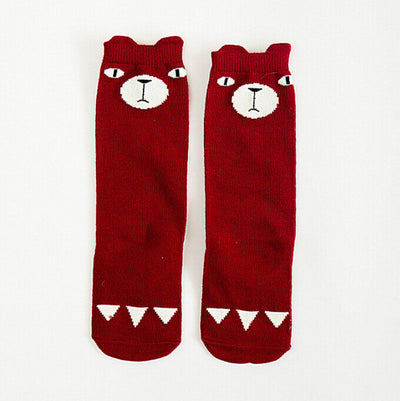 Cute Bear Cat Fox Baby Toddler Girl Knee High Stocks Stocking Tights Leg Warmers for 1-3years kids