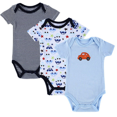 Baby Boy Clothes Newborn Baby Romper Set Short Sleeved Cotton Baby Romper Toddler Underwear Infant Clothing