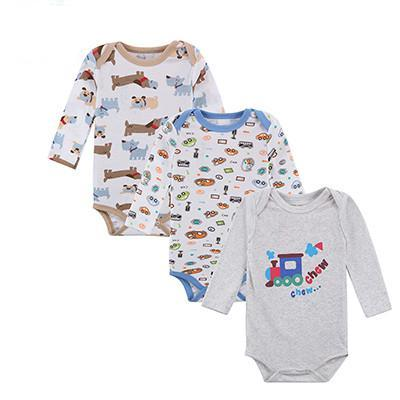 100% Cotton Baby Bodysuit 3 pieces/lot Autumn Newborn Cotton Body Baby Long Sleeve Underwear Next Infant Boy Girl Pajamas Clothes