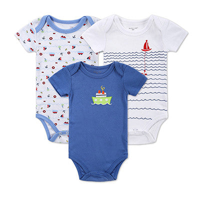 BABY BODYSUITS Printed Pattern Baby Clothes Short Sleeves Summer Baby Clothing for Girl Boy Baby Pajamas