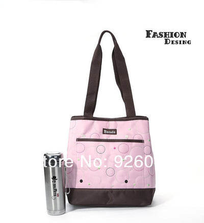 High Quality Tote Baby Shoulder Diaper Bags Durable Pink Nappy Bag Mummy Baby Bag